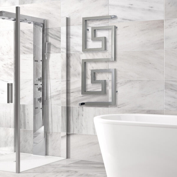 Attractive designer towel rail for bathrooms