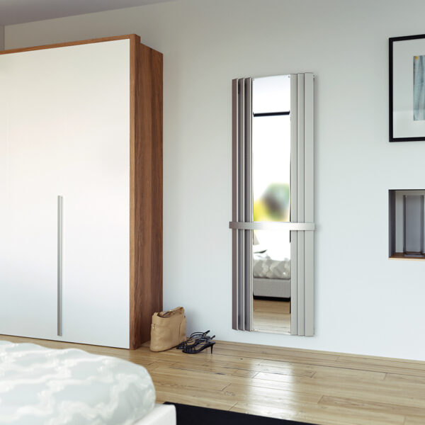 Attractive radiator with mirror and towel rail
