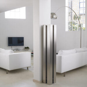 Tall tower radiator for lounge