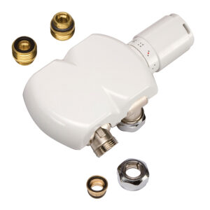 Swivel radiator valves and sensor