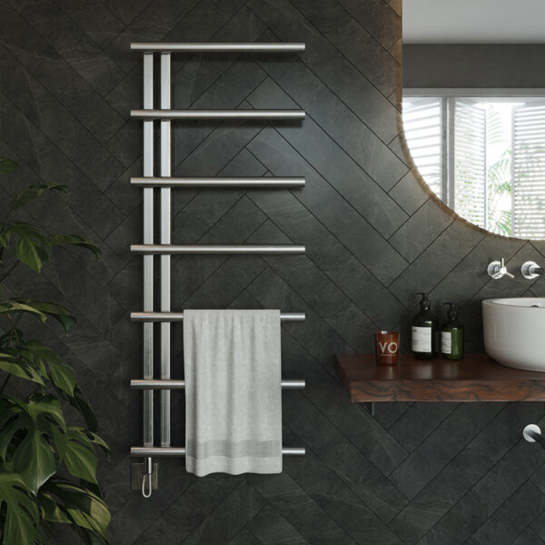 Fully electric radiator for bathrooms