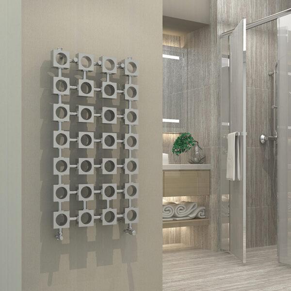 Fun designer radiator for hallways and lounge