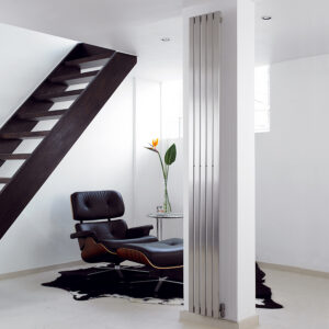 Designer radiator with mirror for lounge