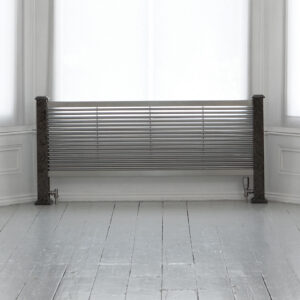 Attractive floor-standing designer radiator for lounge and hallways