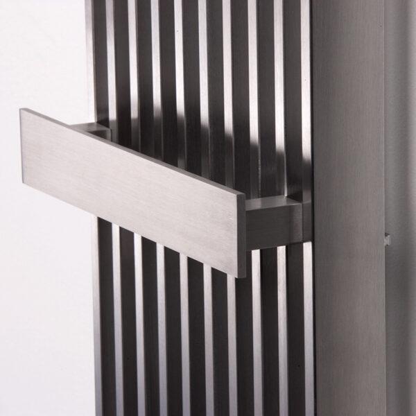 Designer radiator with mirror for lounge
