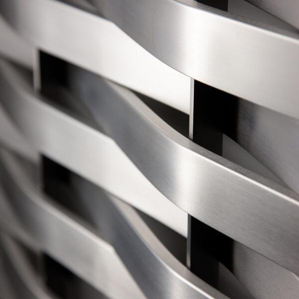 Attractive floor-standing designer radiator for lounge and hallways