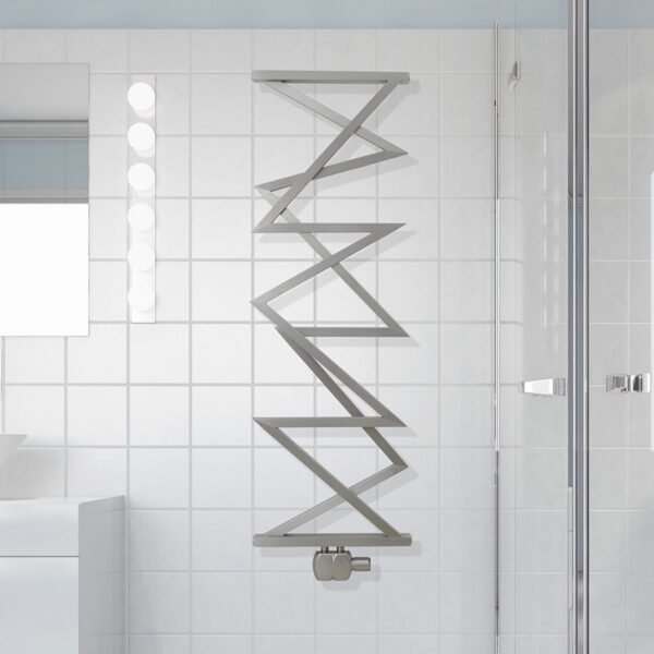 Unusal designer towel rail for bathrooms