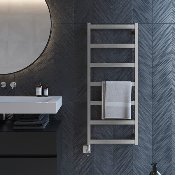 Attractive electric towel rail for bathrooms